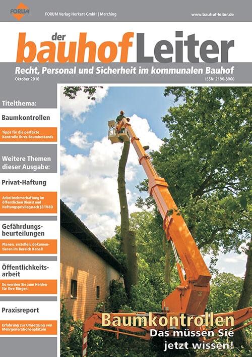 Ausgabe Oktober 2010<br>Baumkontrollen
