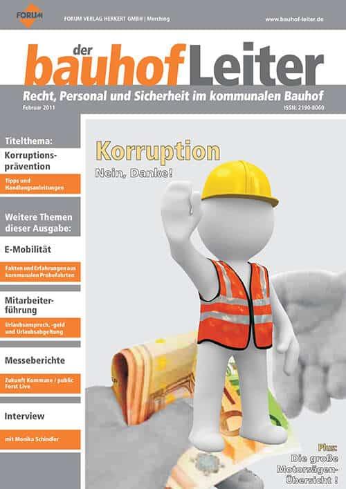 Ausgabe Februar 2011<br>Korruption