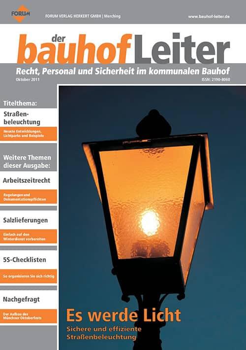 Ausgabe Oktober 2011<br>Licht