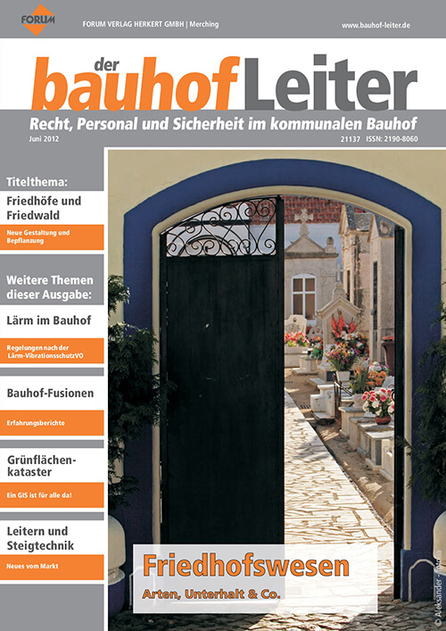 Ausgabe Juni 2012<br>Friedhofswesen