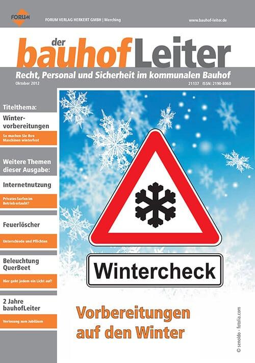 Ausgabe Oktober 2012<br>Wintercheck