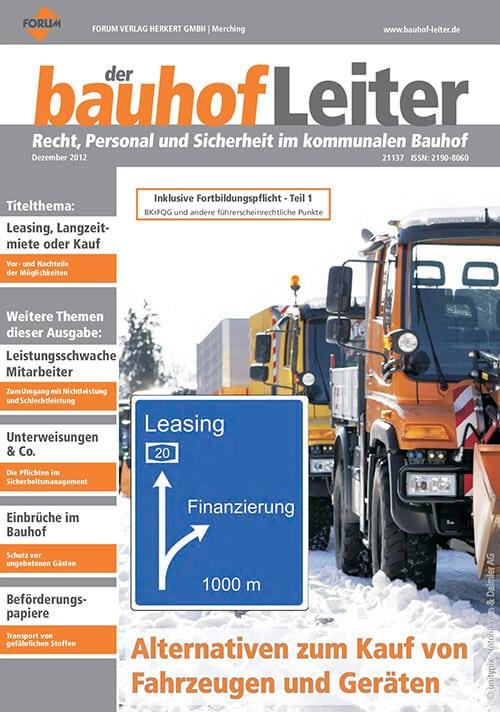 Ausgabe Dezember 2012<br>Kauf von Fahrzeugen