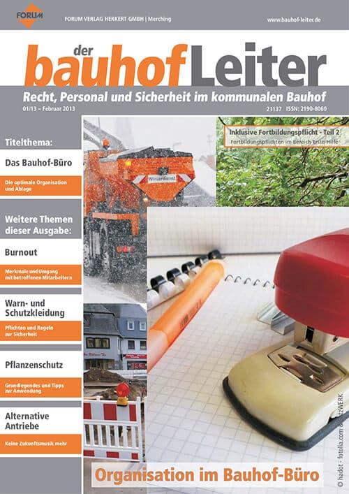 Ausgabe Februar 2013<br>Organisation im Bauhof-Büro