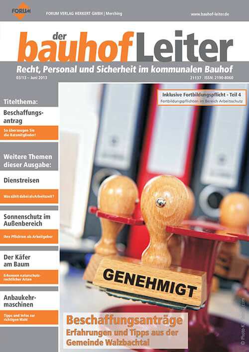 Ausgabe Juni 2013<br>Beschaffungsanträge
