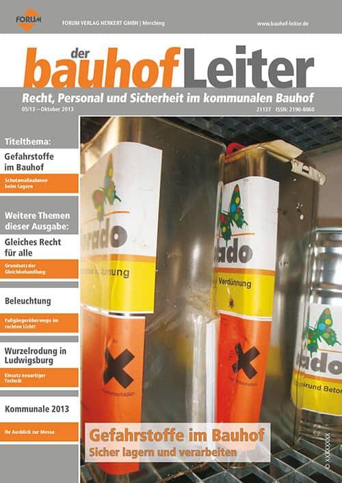 Ausgabe Oktober 2013<br>Gefahrstoffe im Bauhof