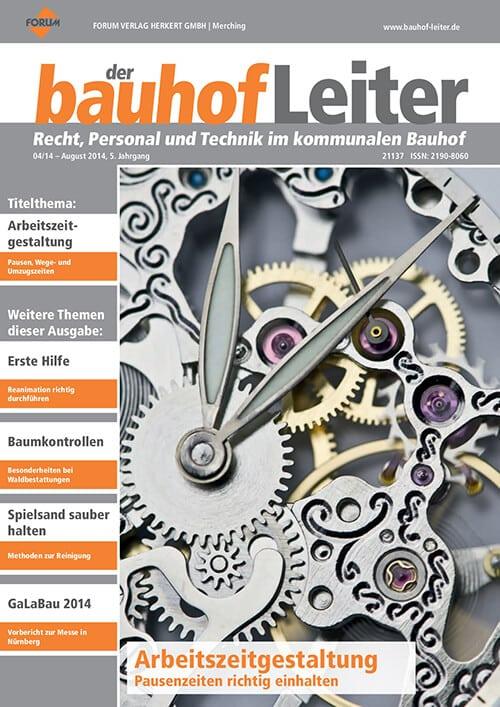 Ausgabe August 2014<br>Arbeitszeitgestaltung