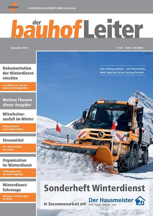 Ausgabe September 2014<br>Winterdienst