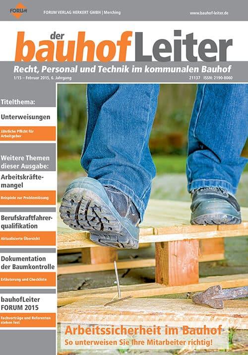 Ausgabe Februar 2015<br>Arbeitssicherheit im Bauhof