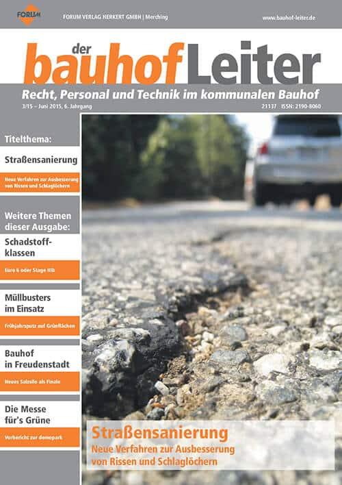 Ausgabe Juni 2015<br>Straßensanierung