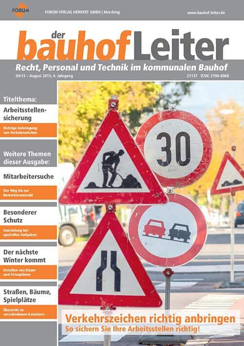 Ausgabe August 2015<br>Verkehrszeichen