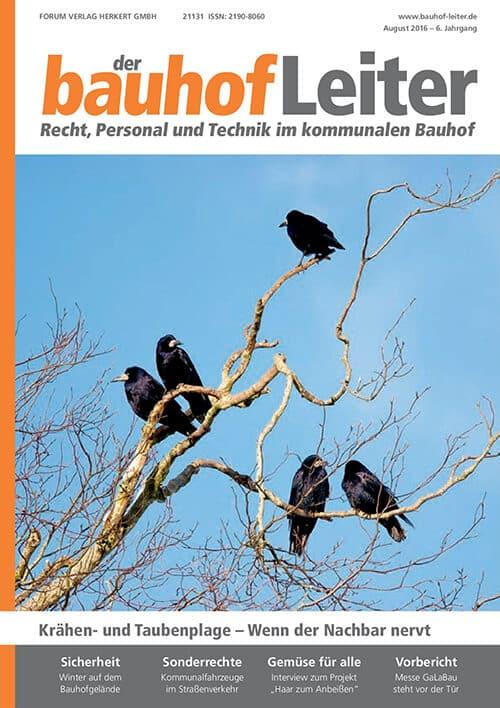 Ausgabe August 2016<br>Krähen- und Taubenplage