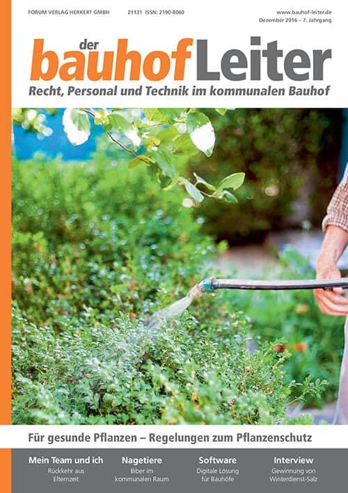 Ausgabe Dezember 2016<br>Regelungen Pflanzenschutz