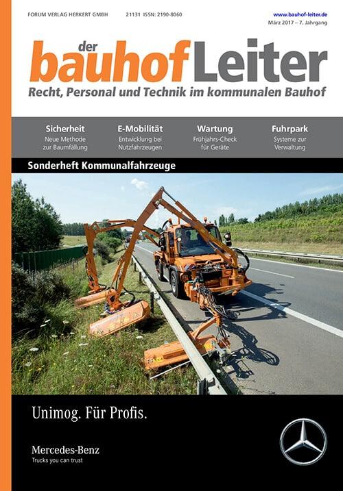 Ausgabe März 2017<br>Kommunalfahrzeuge