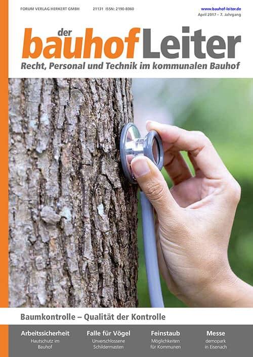 Ausgabe April 2017<br>Baumkontrolle – Qualität der Kontrolle
