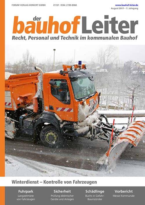 Ausgabe August 2017<br>Winterdienst – Kontrolle von Fahrzeugen