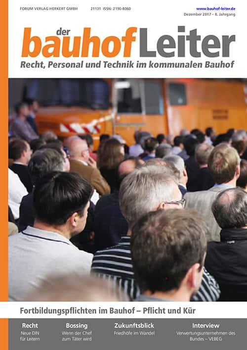 Ausgabe Dezember 2017<br>Fortbildungspflichten im Bauhof