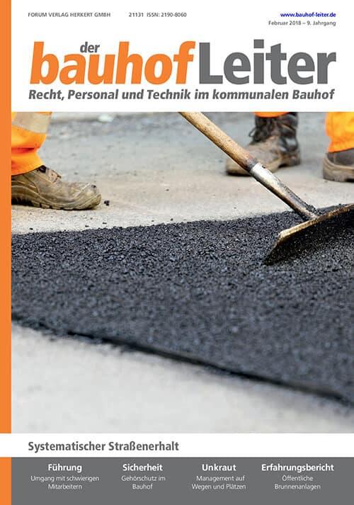 Ausgabe Februar 2018<br>Systematischer Straßenerhalt