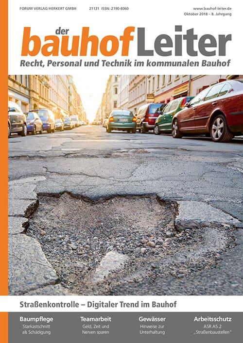 Ausgabe Oktober 2018<br>Straßenkontrolle – Digitaler Trend im Bauhof