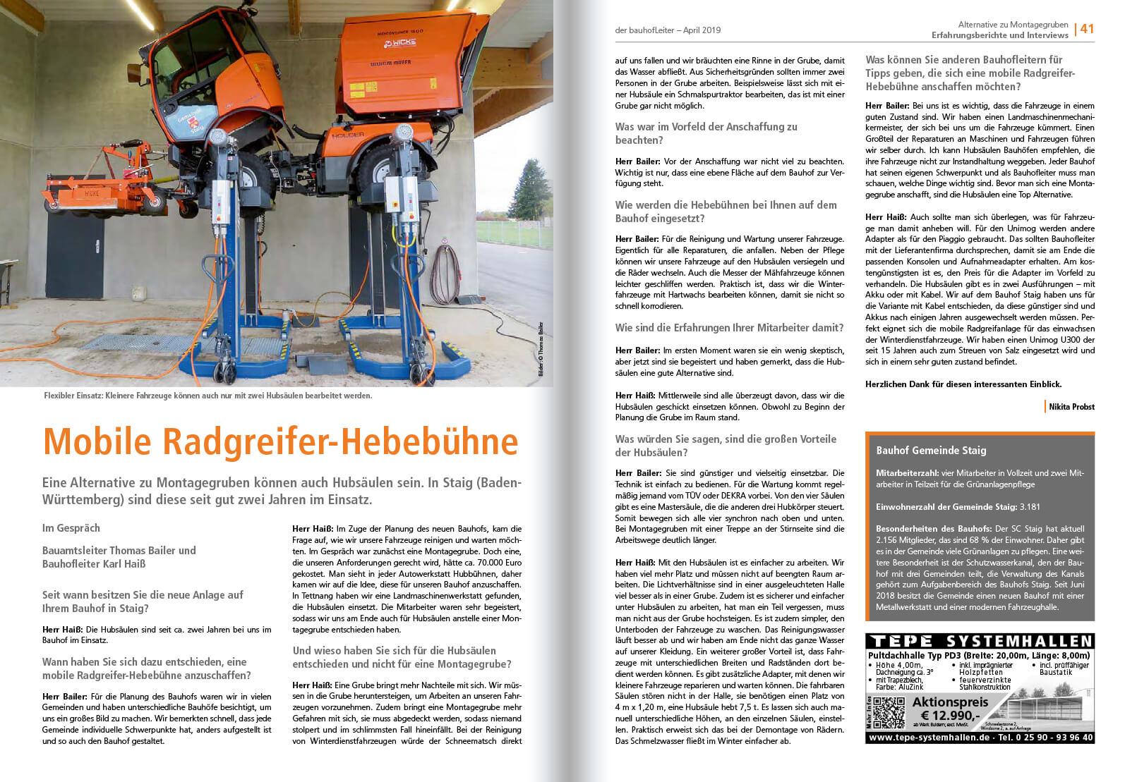 2019-04 Mobile Radgreifer Hebebühne