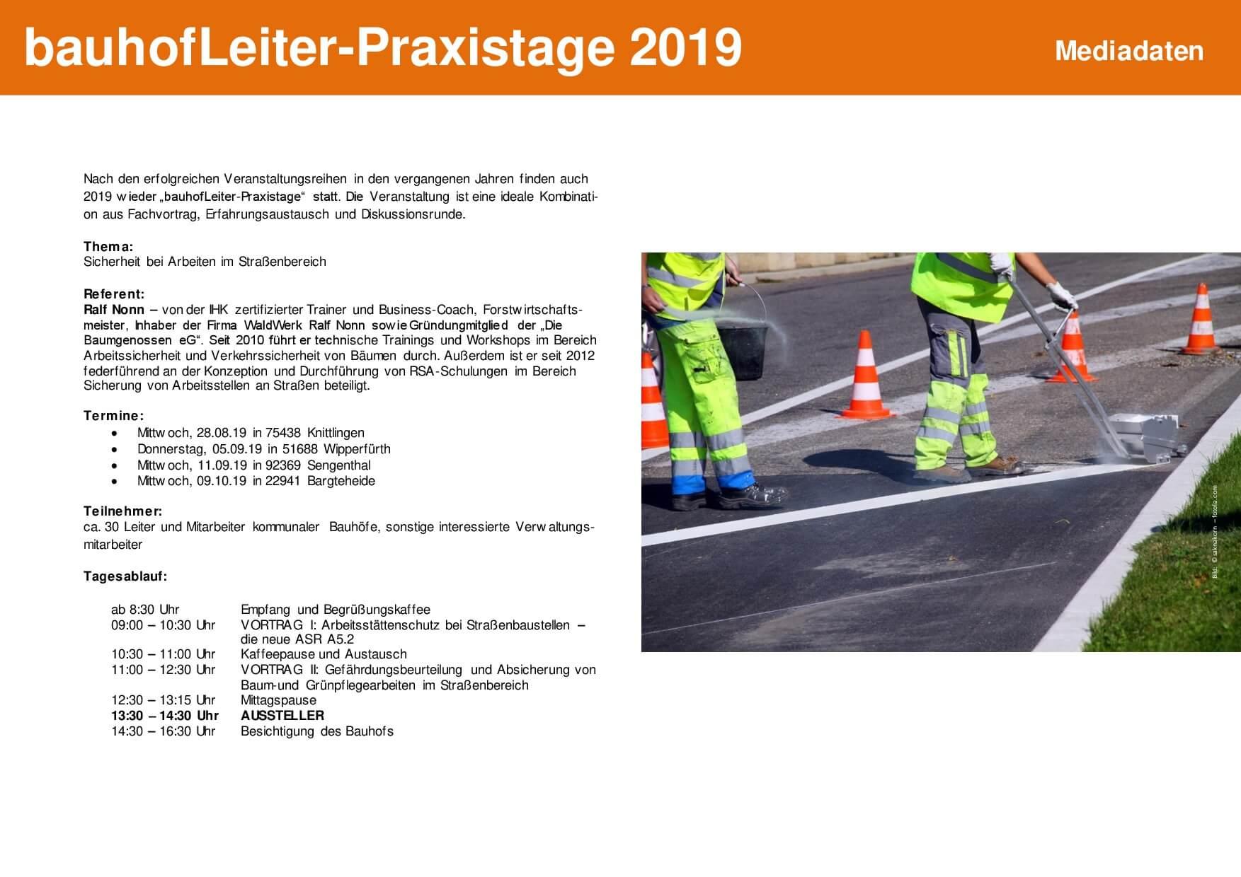 Mediadaten bhL-Praxistage 2019