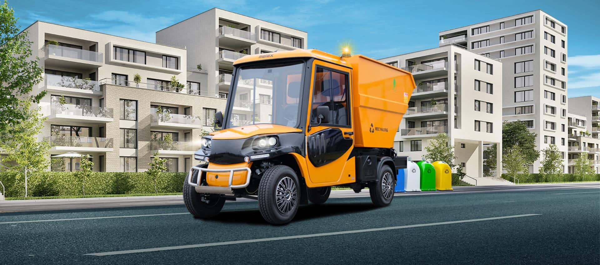 Landschaftspflege mit dem neuen 100% elektrischen Melex Cargo 391.1